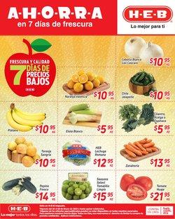 Ofertas de Hiper-Supermercados en el catálogo de HEB en Aguascalientes ( 3 días más )