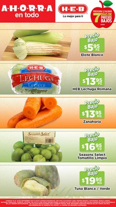 Ofertas de Hiper-Supermercados en el catálogo de HEB ( Vence hoy)