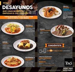 Ofertas de Restaurantes en el catálogo de Toks Restaurante en Iztacalco ( 28 días más )