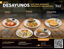 Catálogo Toks Restaurante ( Vence mañana )