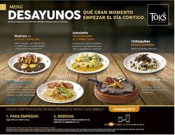 Ofertas de Restaurantes en el catálogo de Toks Restaurante ( Publicado hoy )