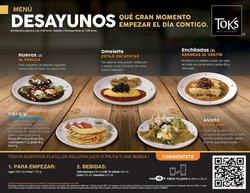 Catálogo Toks Restaurante ( 10 días más)
