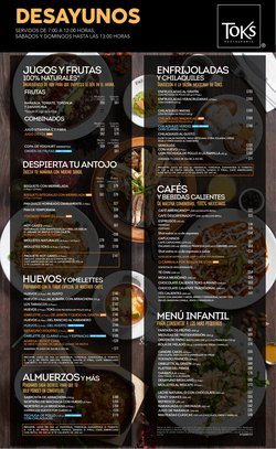 Catálogo Toks Restaurante ( 9 días más)
