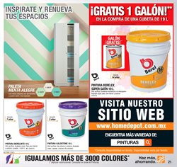Ofertas de Pintura  en el folleto de The Home Depot en Celaya