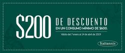 Ofertas de Italianni's Pizza  en el folleto de Ciudad de México