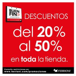 Ofertas de Ferrioni  en el folleto de Tlalpan (Distrito Federal)