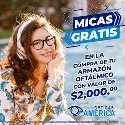 Ofertas de Ópticas en el catálogo de Ópticas América ( 14 días más)