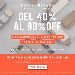 Catálogo Dupuis en Ciudad de México ( Caducado )