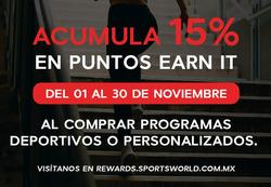 Ofertas de Sports World  en el folleto de Álvaro Obregón (Ciudad de México)
