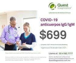 Ofertas de Farmacias y Salud en el catálogo de Quest Diagnostics en Gustavo A Madero ( 19 días más )