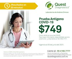 Ofertas de Quest Diagnostics en el catálogo de Quest Diagnostics ( 17 días más)