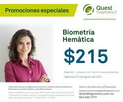Ofertas de Farmacias y Salud en el catálogo de Quest Diagnostics ( 4 días más)