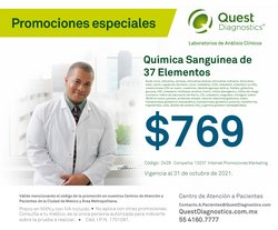Catálogo Quest Diagnostics ( 2 días más)