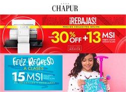 Ofertas de Tiendas Departamentales en el catálogo de Chapur ( Publicado ayer)