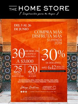 Ofertas de Tiendas Departamentales  en el folleto de The Home Store en Tlaquepaque