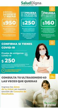 Ofertas de Farmacias y Salud en el catálogo de Salud Digna en Santiago de Querétaro ( Vence mañana )