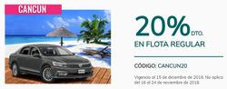 Ofertas de Hertz  en el folleto de Cancún
