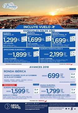 Ofertas de Mega travel  en el folleto de Puebla
