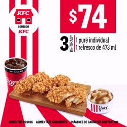 Ofertas de Restaurantes en el catálogo de KFC ( Vence mañana)