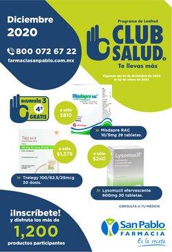Ofertas de Farmacias y Salud en el catálogo de Farmacia San Pablo en Santiago de Querétaro ( 26 días más )