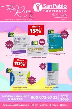 Ofertas de Hiper-Supermercados en el catálogo de Farmacia San Pablo ( Vence hoy)