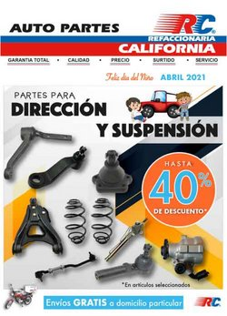Ofertas de Autos, Motos y Repuestos en el catálogo de Refaccionaria California en Santiago de Querétaro ( 20 días más )