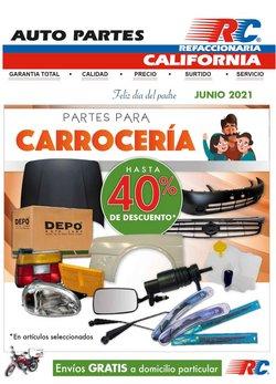 Ofertas de Autos, Motos y Repuestos en el catálogo de Refaccionaria California ( 12 días más)