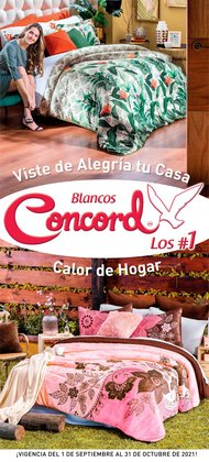 Ofertas de Hogar y Muebles en el catálogo de Colchas Concord ( 4 días más)