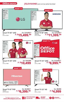 Ofertas de Smart tv  en el folleto de Office Depot en Guadalajara