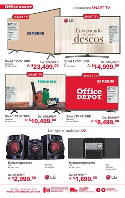 Ofertas de Smart tv  en el folleto de Office Depot en Ciudad de México