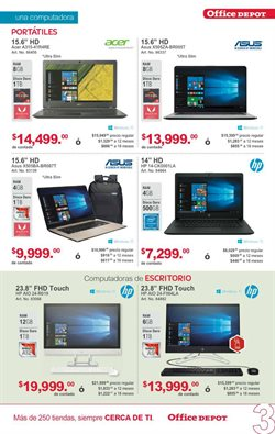 Ofertas de Notebook  en el folleto de Office Depot en Mérida