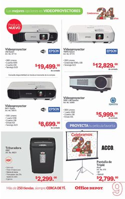 Ofertas de Epson  en el folleto de Office Depot en Tlaquepaque