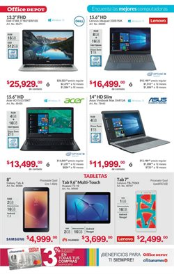 Ofertas de Lenovo  en el folleto de Office Depot en Mérida