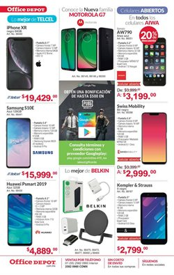 Ofertas de Alcatel  en el folleto de Office Depot en Cabo San Lucas