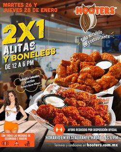 Ofertas de Restaurantes en el catálogo de Hooters en Benito Juárez (CDMX) ( Vence mañana )