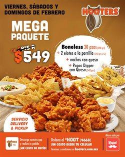 Ofertas de Restaurantes en el catálogo de Hooters en Naucalpan (México) ( Vence mañana )
