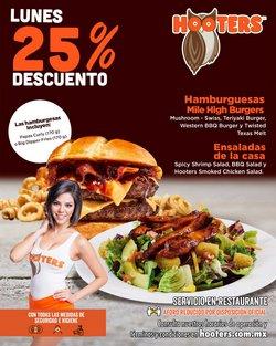 Ofertas de Restaurantes en el catálogo de Hooters ( Caduca hoy )