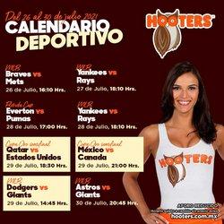 Ofertas de Restaurantes en el catálogo de Hooters ( Vence mañana)