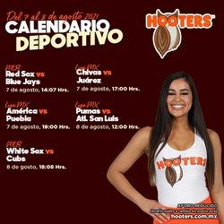 Ofertas de Hooters en el catálogo de Hooters ( 3 días más)