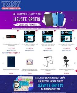 Ofertas de Librerías y Papelerías en el catálogo de Tony Super Papelerías en Cuautitlán ( Publicado ayer )