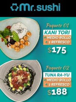 Ofertas de Restaurantes en el catálogo de Mr Sushi en Zapopan ( 16 días más )