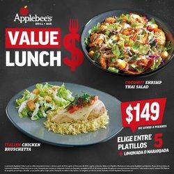 Ofertas de Restaurantes en el catálogo de Applebee's ( Más de un mes)