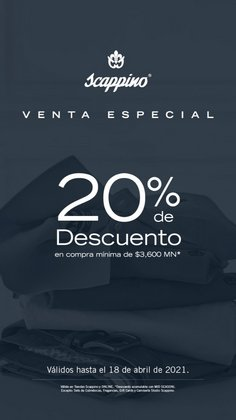Ofertas de Ropa, Zapatos y Accesorios en el catálogo de Scappino en Naucalpan (México) ( Publicado hoy )