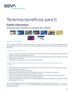 Catálogo BBVA Bancomer ( Más de un mes)