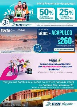 Ofertas de Viajes en el catálogo de Autobuses ETN en Ecatepec de Morelos ( 7 días más )