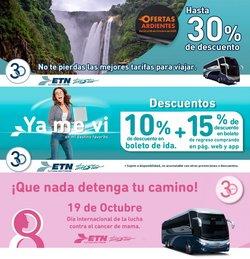 Ofertas de Viajes en el catálogo de Autobuses ETN ( Vence mañana)