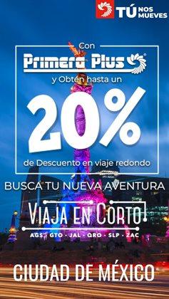 Ofertas de Viajes en el catálogo de Primera Plus/Flecha Amarilla en Ecatepec de Morelos ( 14 días más )