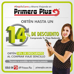 Ofertas de Viajes  en el folleto de Primera Plus/Flecha Amarilla en Ciudad Guzmán