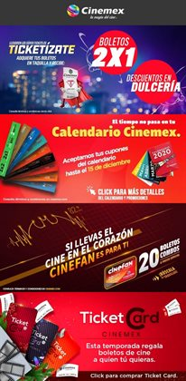 Ofertas de Ocio en el catálogo de Cinemex en Reynosa ( 9 días más )