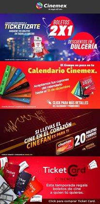 Ofertas de Ocio en el catálogo de Cinemex en Cuauhtémoc (CDMX) ( 3 días publicado )